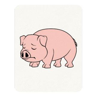 Día nacional gritador del cerdo del cochinillo invitación 10,8 x 13,9 cm