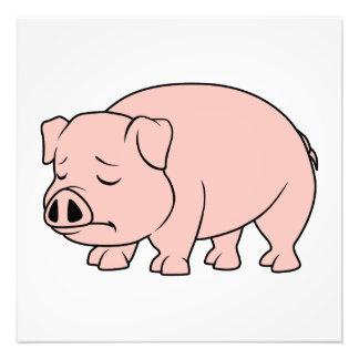 Día nacional gritador del cerdo del cochinillo impresiones fotograficas
