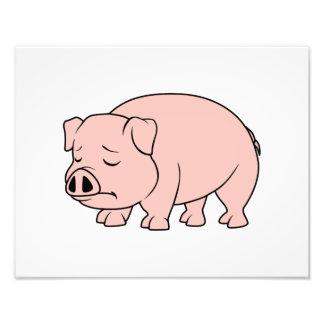 Día nacional gritador del cerdo del cochinillo arte fotografico