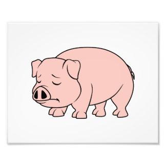 Día nacional gritador del cerdo del cochinillo impresión fotográfica