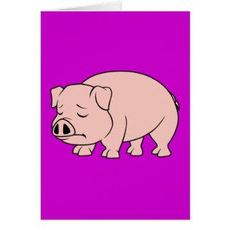 Día nacional gritador del cerdo del cochinillo tarjeta de felicitación