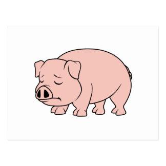 Día nacional gritador del cerdo del cochinillo postal