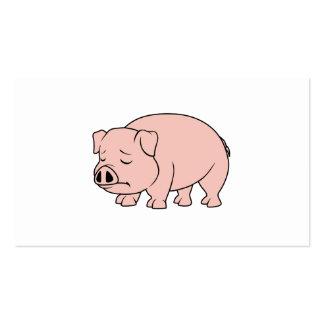 Día nacional gritador del cerdo del cochinillo tarjetas de visita