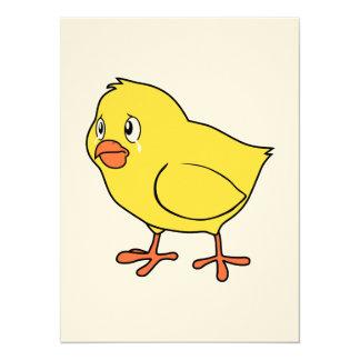Día nacional gritador del pollo del polluelo invitación 13,9 x 19,0 cm