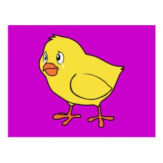 Día nacional gritador del pollo del polluelo tarjeta postal