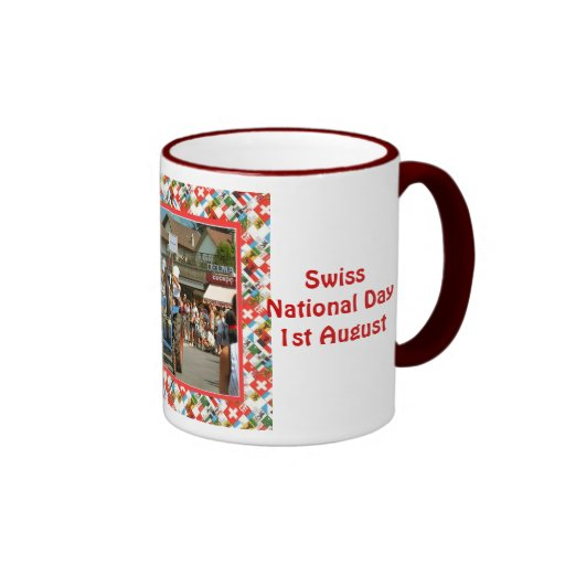 Día nacional suizo, el 1 de agosto tazas