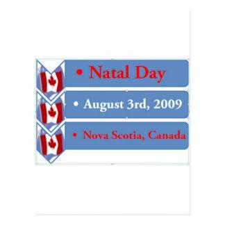 Día natal, el 3 de agosto de 2009, Nueva Escocia,  Tarjeta Postal