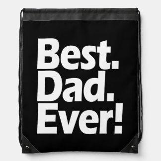 Día negro/blanco de la mejor exclamación del papá mochila