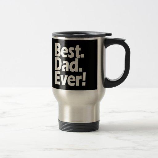 Día negro/blanco de la mejor exclamación del papá taza térmica