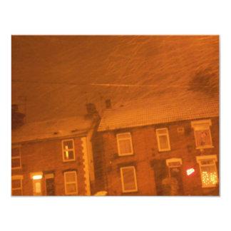 día nevoso frío anuncio