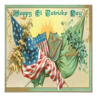 """Día No.11 del St Patricks del vintage Invitación 5.25"""" X 5.25"""""""