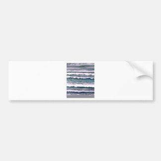 Día nublado 2 - arte del océano de CricketDiane Etiqueta De Parachoque