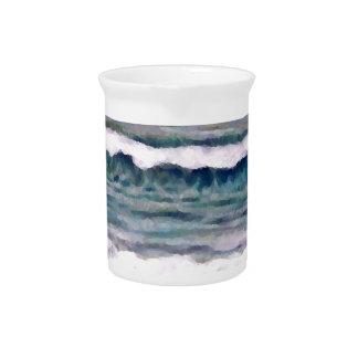 Día nublado 2 - arte del océano de CricketDiane Jarras Para Bebida