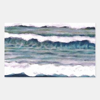 Día nublado 2 - arte del océano de CricketDiane Pegatina Rectangular