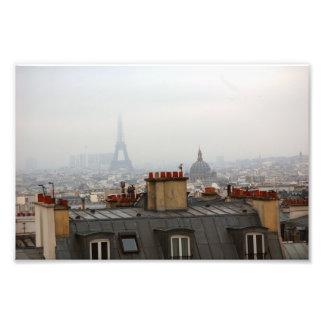 Día nublado en París Impresiones Fotográficas