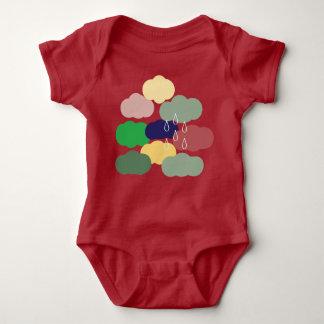 Día nublado - enredadera del bebé 12 MESes, 16 Body Para Bebé