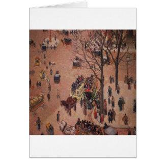 Día ocupado justo de la ciudad abstracta de la ciu tarjeta de felicitación