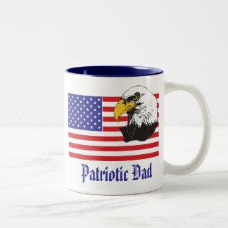 Día patriótico del papá/de padre taza de dos tonos