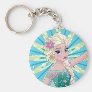 Día perfecto de Elsa el   Llavero Redondo Tipo Pin