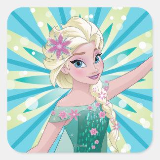 Día perfecto de Elsa el | Pegatina Cuadrada