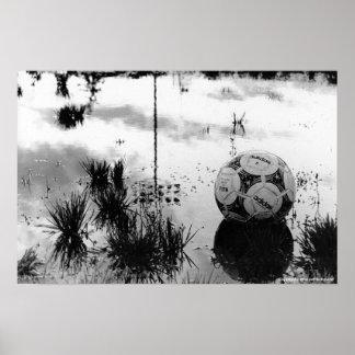 Día perfecto del fútbol póster
