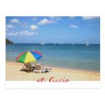 día perfecto e ideal en el paraíso, St Lucia Postales