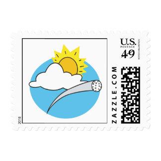 Día perfecto para el golf sellos postales