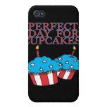 Día perfecto para las magdalenas iPhone 4 protectores