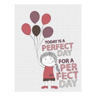 Día perfecto postal