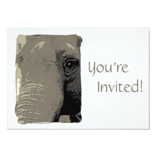 Día personalizado del elefante en el fiesta del invitación 12,7 x 17,8 cm