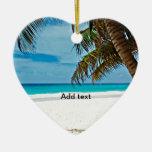 Día Plantilla-Soleado del paraíso tropical en la p Ornamento Para Arbol De Navidad