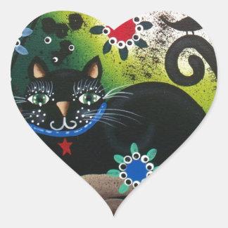 Día popular de Art_By Everett_ del CAT muerto, neg Pegatinas