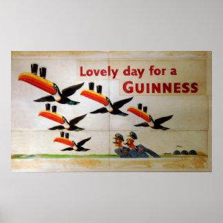 Día precioso para un Guinness Póster