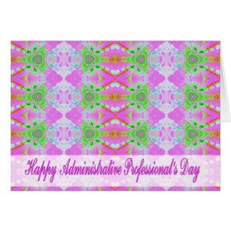 Día profesional administrativo feliz tarjeta de felicitación