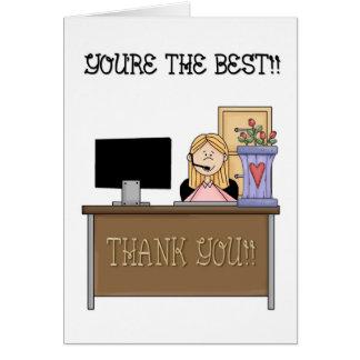 Día profesional administrativo tarjetas