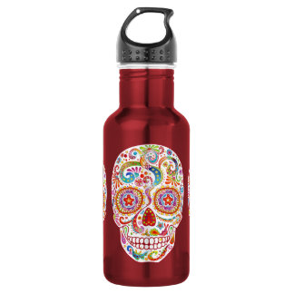 Día psicodélico de la botella de agua muerta del