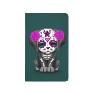 Día púrpura lindo del trullo muerto del perro de cuaderno