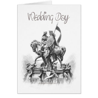 Día-Renacimiento-Bosquejo del boda Tarjeta De Felicitación