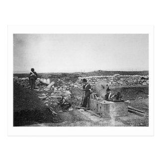 Día reservado en el ~ 1855 de la batería del morte tarjeta postal