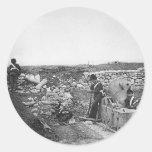 Día reservado en el ~ 1855 de la batería del etiqueta redonda