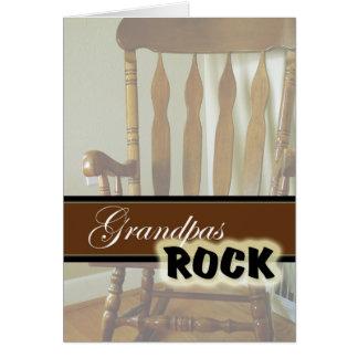 Día Roca-Feliz de los abuelos de los abuelos Felicitacion