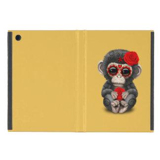 Día rojo del chimpancé muerto del bebé del cráneo iPad mini protector