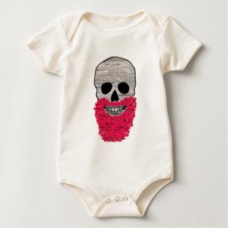Día rojo del inconformista de la flor de la barba body de bebé