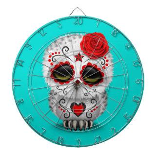 Día rojo lindo del azul muerto del búho del cráneo tablero dardos