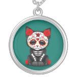 Día rojo lindo del gato muerto del gatito, azul de grimpola personalizada