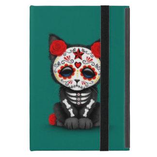 Día rojo lindo del gato muerto del gatito, azul de iPad mini cobertura