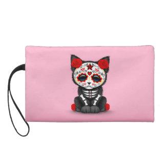 Día rojo lindo del gato muerto del gatito, rosado
