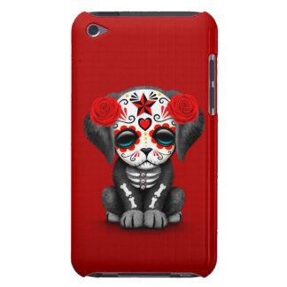 Día rojo lindo del perro de perrito muerto barely there iPod cárcasas
