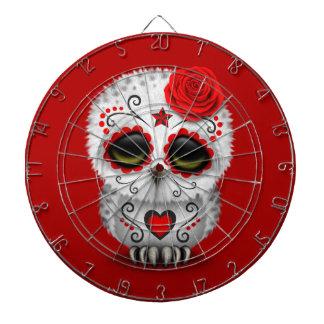 Día rojo lindo del rojo muerto del búho del cráneo tabla dardos
