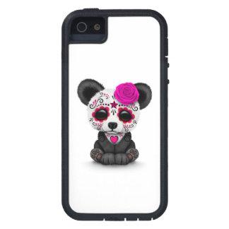Día rosado de la panda muerta del cráneo del iPhone 5 carcasas
